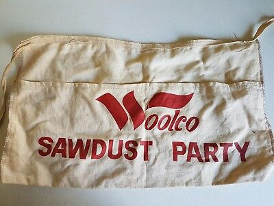 Vintage Woolco Department Store Apron Tool Sawdust Party