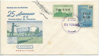 1961 Fdc , National University, Olympic Games, Surcharged