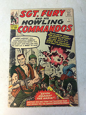 SGT FURY #1 HOWLING COMMANDOS, super key issue, 1ST APPEARANCE, 1963, KIRBY