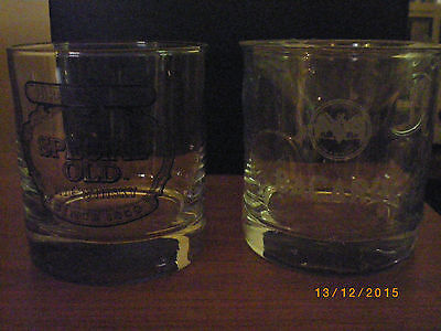 hiram walkers and bacardi drink glasses both new great for your bar man cave
