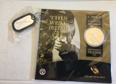 2012 US Army Commemorative Coin Set UNC Silver Dollar -This We'll Defend Sealed