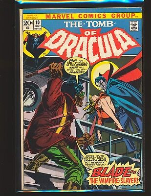 Tomb of Dracula # 10 - 1st Blade The Vampire Slayer VG Cond.