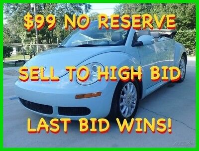 2006 Volkswagen Beetle-New CONVERTIBLE AT AC HEATED LTHR $99 NO RESERVE 2006 VW BEETLE CONVERTIBLE AT HEATED LTHR COLD AC POWER TOP SHARP LAST BID WINS