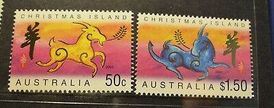 Christmas Island 2003 Year of the Goat set  MUH  s6