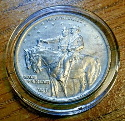 1925 Stone Mountain Silver Commemorative 50c, beautiful Gem BU!