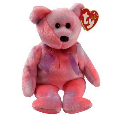 TY Beanie Baby - CLUBBY 5 the Pink Bear (8.5 inch) - MWMTs Stuffed Animal Toy