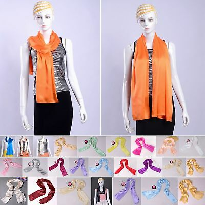 Womens Mens 16 Momme 100% Pure Silk Scarf Scarves Shawls All Sizes Ailisilk
