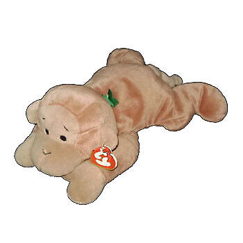 TY Pillow Pal - SWINGER the Monkey (Brown Version) - MWMTs Stuffed Animal Toy