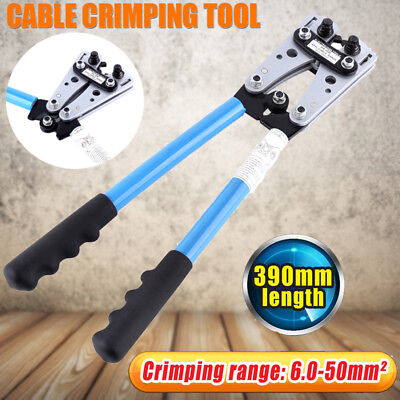 6 - 50 mm² CRIMP TUBE CABLE BATTERY TERMINAL LUG ANDERSON PLUG CRIMPING TOOL TT