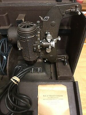 "Vintage Bell & Howell Filmo ""Master 400"" 8mm Movie Projector W/Case,Take-Up Reel"