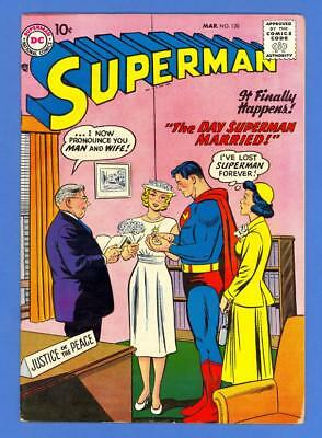 Superman #120 – Dc Comics (1958) – The Day Superman Married – High Grade!