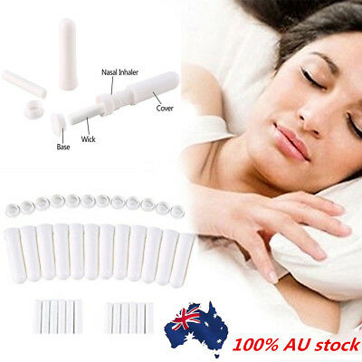 10Set Essential Oil Aromatherapy Blanks Nasal Inhaler Tubes Empty Nasal Inhalers