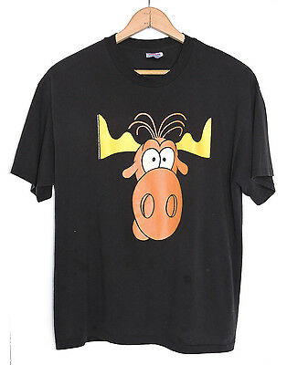 RARE Vtg 90s 1993 The Rocky and Bullwinkle Show Thin Soft T-shirt XL Taco Bell