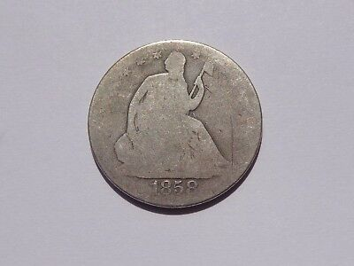 1858 O Seated Liberty Half Dollar Ag No Reserve! Must See!!