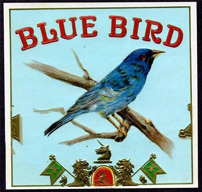 HGR Blue Bird (Highly Wanted) ANTIQUE Cigar Box LABEL