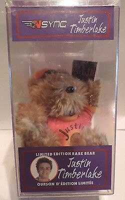 Awesome NSYNC Collectible 2000 Limited Edition Rare Bear - JUSTIN TIMBERLAKE