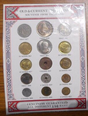 """Thailand Coins Circulating and Commemorative coin Set """" OLD & Current Souvenir """""""