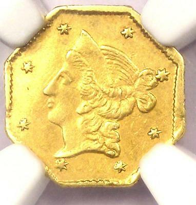 1853 Liberty California Gold Dollar G$1 Coin BG-518 - Certified NGC AU Details!