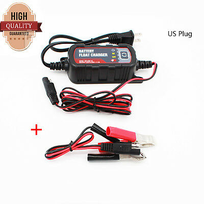 New 12/6V Motorcycle Boat Car Battery Charger Maintainer For Lead Acid Batteries