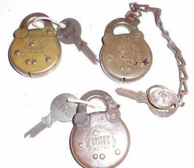 US Postal Street Letter Box Lock #44 and MV and #114 (WITH KEYS)