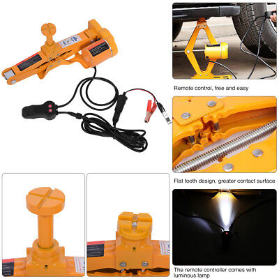 2 Ton 12V DC Jack Scissor Lifting Auto Adjustable Height 12-35cm Car Powered Packed in Handy Carry Case for Road Emergency Use like Tyre Change Car Electric Jack