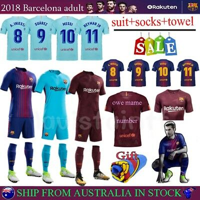 18 Club Jersey Football Home Suit Soccer Short Home Kit Adult Men Suit & Socks