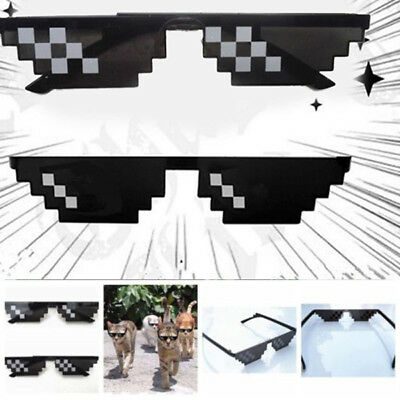 Glasses Thug Life 8 Bit Pixel Deal With IT Sunglasses Unisex Goggles Hot Sell