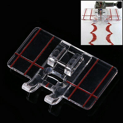 Plastic Parallel Stitch Foot Presser For Home Domestic Sewing Machine Clear New