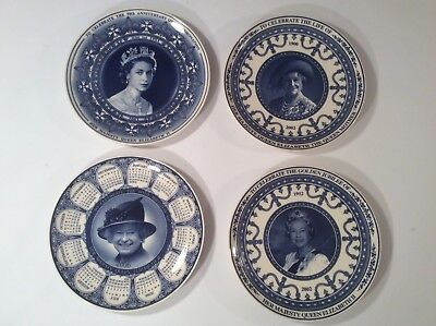 Collection of 4 Wedgewood Daily Mail Commemorative Royal  Plates