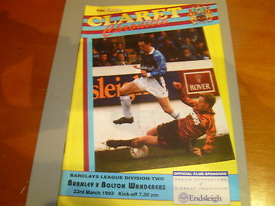 Burnley v Bolton 92/93