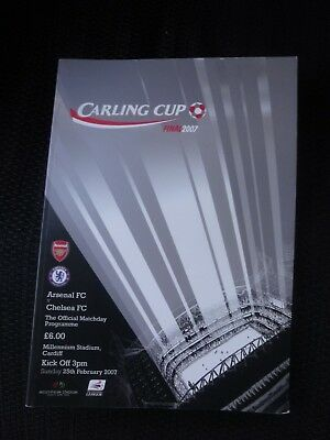 Carling Cup Final programme 2007