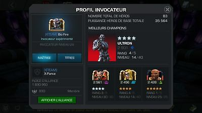 Marvel Contest of Champions Account LVL 29 Pas cher/ Cheap
