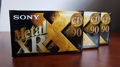 Sony Metal XR 90 Type IV Cassette New and Sealed X 3