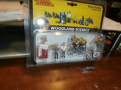 woodland scenics o-scale bicycle buddies ( 10 pieces )