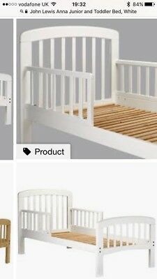 John Lewis Anna Junior And Toddler Bed White
