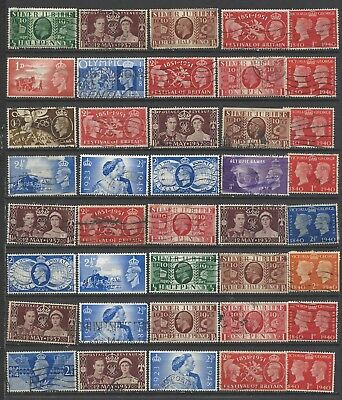 British stamps Kings of old George 5th onwards collection of stamps GB