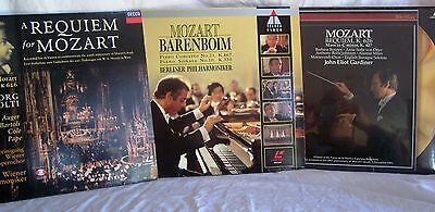 LASERDISC Mozart Titles x 3 PAL - Good to Sealed, some marks on discs & covers
