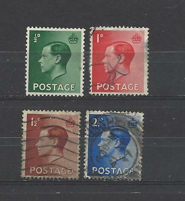 Kings of old Edward 8th used set defins collection old stamps gb.