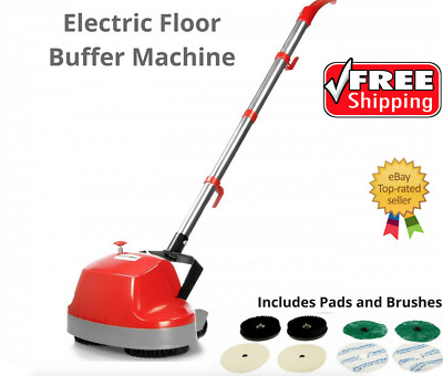 Electric Floor Polisher Buffer Machine Scrubber Waxer Cleaner Timber Tile Lino