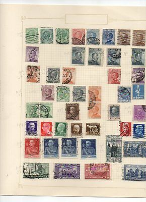 COLLECTION OF POSTAGE STAMPS: ITALY from 1906 - 1926