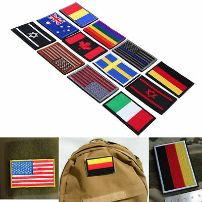 Nation Flag Emblem Patch Embroidered Trim Applique National Country Sewing Craft