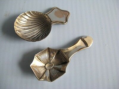 Old Sheffield plate caddy spoons C1800/10