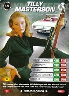 James Bond 007 Spy Card TILLY MASTERSON Trading Card # 123 COMMON   Goldfinger