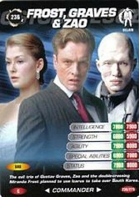 James Bond 007 Spy Card FROST GRAVES & ZAO Trading Card # 236 Die Another Day