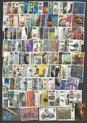 British stamps collection post decimal old stamps gb good mix mostly different