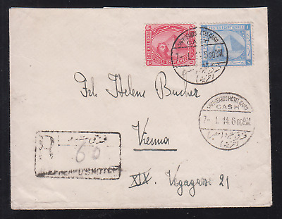 Egypt  1914 Reg. Used Cover From Shepheards Hotel P.o. To Vienna