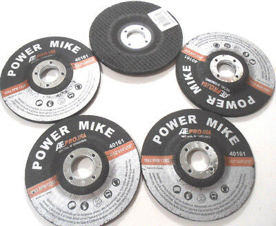 "Lot Of 5(Five) 4-1/2"" Inch Grinding Disc Wheel X 7/8"" Arbor X 1/4"" Thick"