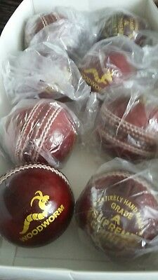 8 x Woodworm Supreme County 5.1/2 Cricket Balls