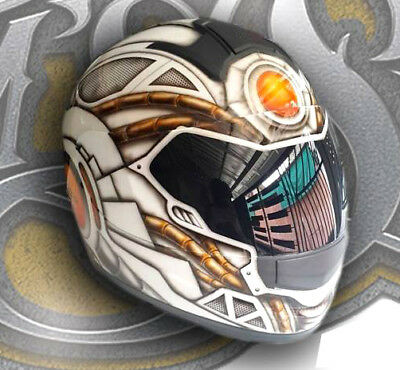 Custom Airbrush Painted Full Face Motorcycle Helmet 324 00 Picclick