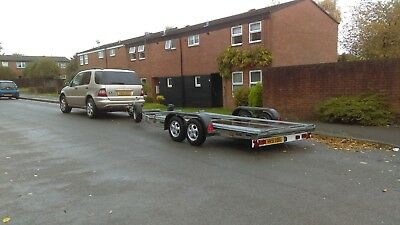 21Ft Twin Axle Galvanised Car Transporter Trailer- 2000Kg/ramps/winch-Coventry